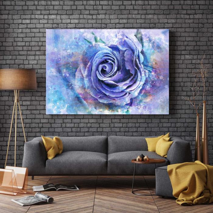Tablou Canvas - Trandafir Mov 2