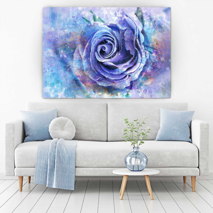 Tablou Canvas - Trandafir Mov 1