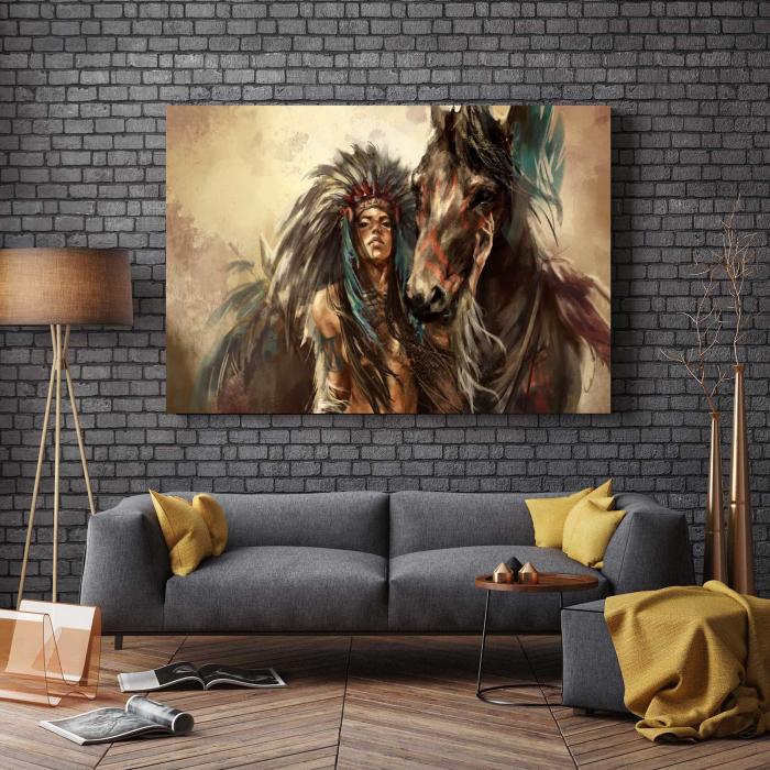 Tablou Canvas - Tribes Man 2
