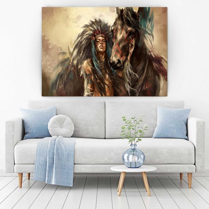 Tablou Canvas - Tribes Man 1