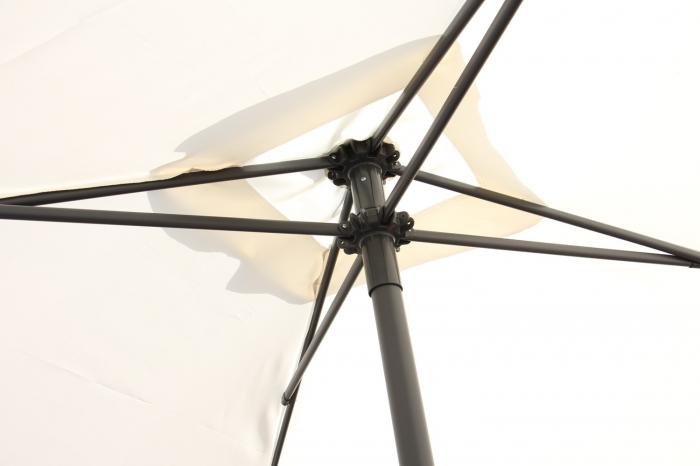 Umbrela soare pentru terasa ALBA patrata structura metal crem 200x200 cm [1]