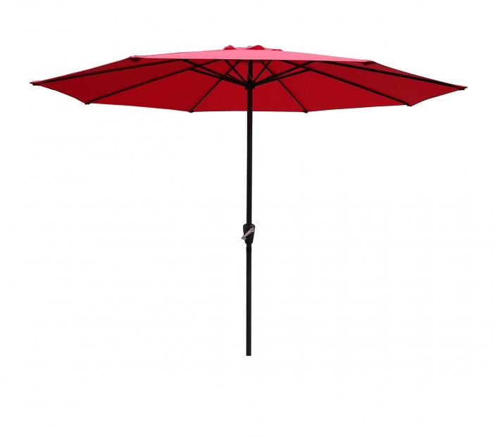 Umbrela soare pentru terasa RED rotunda structura metal rosu Diametru 300 cm 0