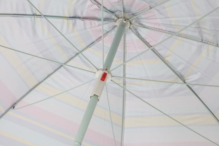 Umbrela soare pentru terasa rotunda structura metal multicolor Diametru 220 cm [1]