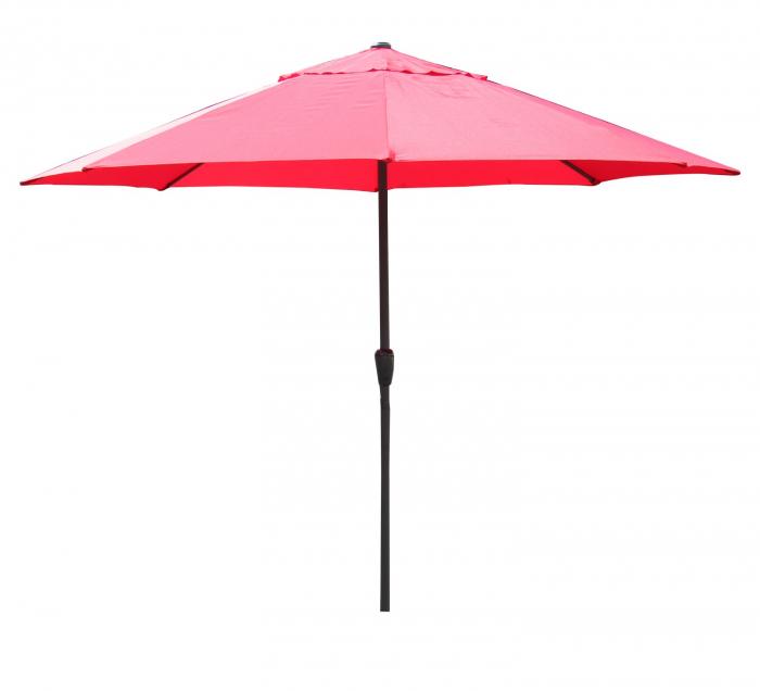 Umbrela soare pentru terasa RED rotunda structura metal rosu Diametru 300 cm 1