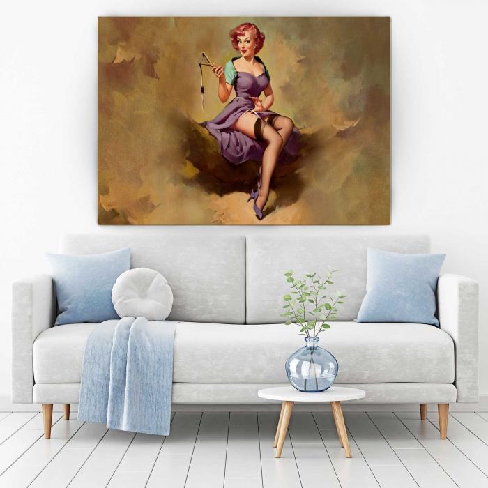 Tablou Canvas - Vintage Girl [1]
