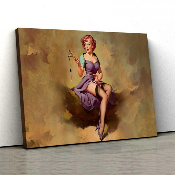 Tablou Canvas - Vintage Girl [0]