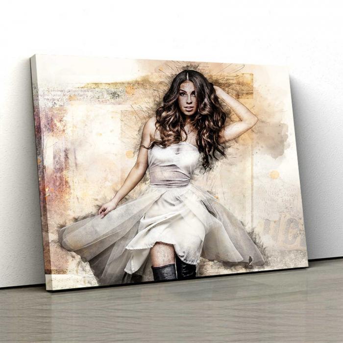 Tablou Canvas - White Dress 0