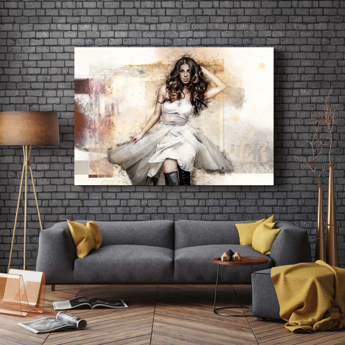 Tablou Canvas - White Dress 2