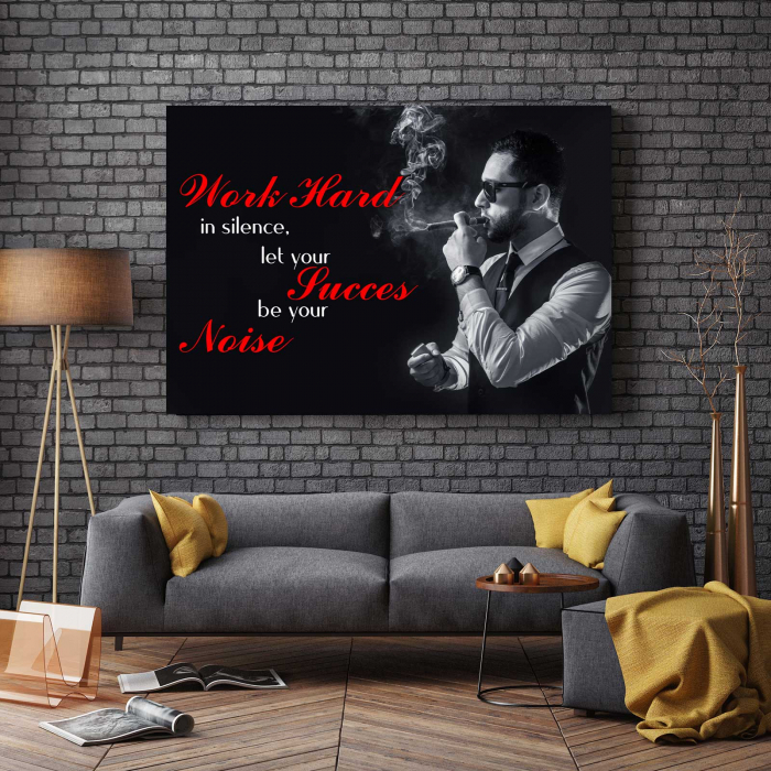 Tablou Canvas - Work Hard 2