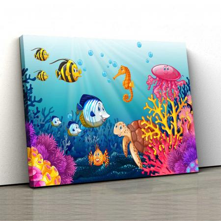 Tablou Canvas Copii - Lumea Acvatica0