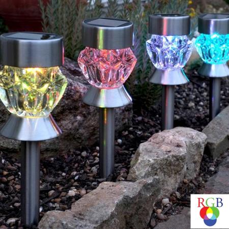 Lampa solara LED RGB, H 36 cm [1]