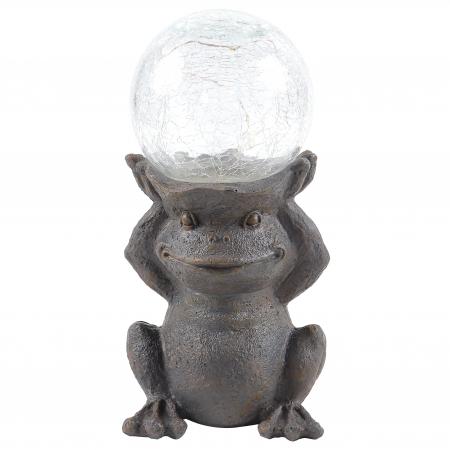 Lampa solara micro LED, broasca, H 28 cm [1]