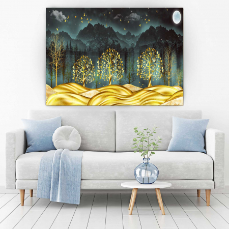 Tablou Canvas - Gold Dream [1]