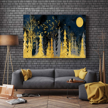 Tablou Canvas - Gold Tree2