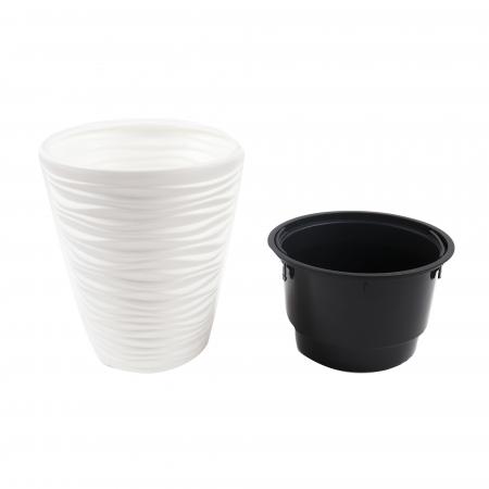 Ghiveci din plastic, alb, D 29.5 cm [1]