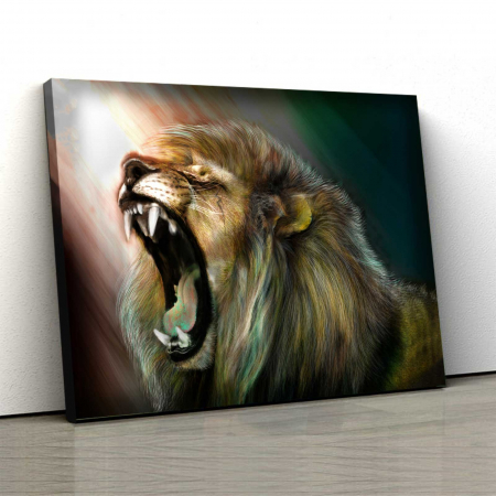 Tablou Canvas - Angry Lion [0]
