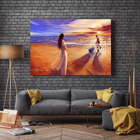 Tablou Canvas - Apus Pe Plajă2