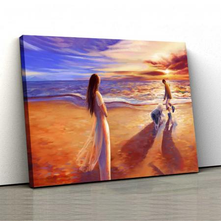 Tablou Canvas - Apus Pe Plajă0