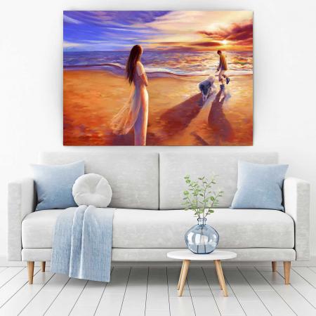 Tablou Canvas - Apus Pe Plajă1