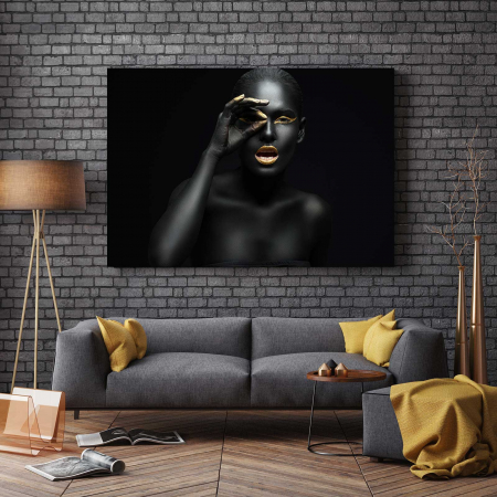 Tablou Canvas - Black girl [2]