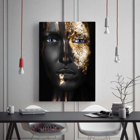 Tablou Canvas - Black & Gold1