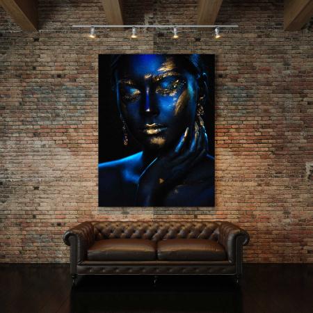 Tablou Canvas - Blue & Gold2