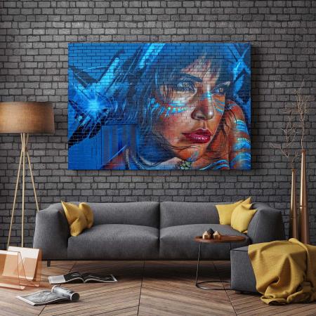 Tablou Canvas - Blue Hair2