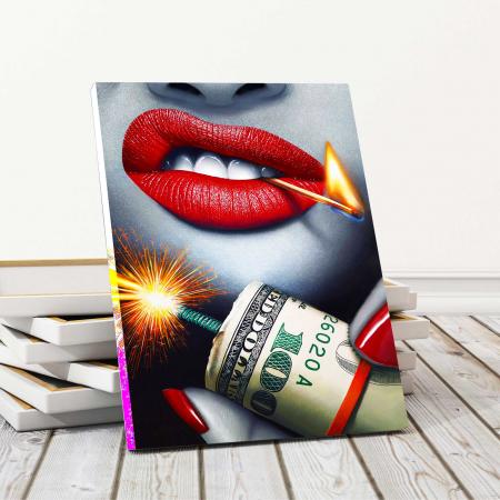 Tablou Canvas - Bomb & Money [0]