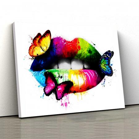 Tablou Canvas - Butterfly Lips0