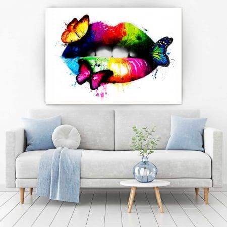 Tablou Canvas - Butterfly Lips1