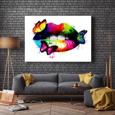 Tablou Canvas - Butterfly Lips2