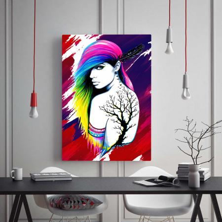 Tablou Canvas - Colored Girl1