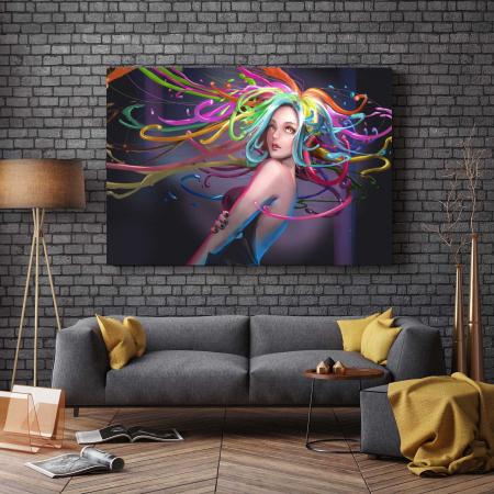 Tablou Canvas - Colored Hair2