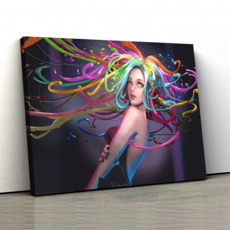Tablou Canvas - Colored Hair0