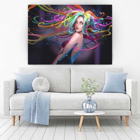 Tablou Canvas - Colored Hair1