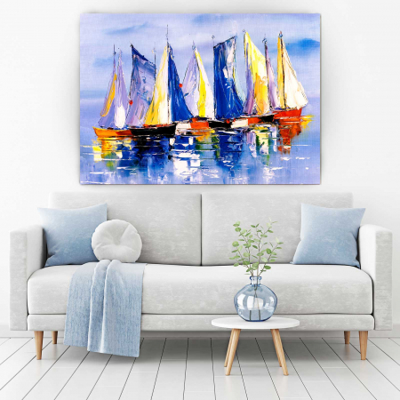 Tablou Canvas - Colorful Boats1