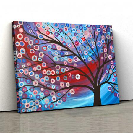 Tablou Canvas - Copac Cu Flori0