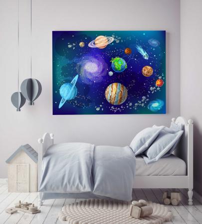 Tablou Canvas Copii - Planete2