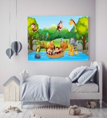 Tablou Canvas Copii - Zoo Party2