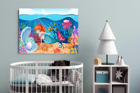 Tablou Canvas Copii - Sirena [2]