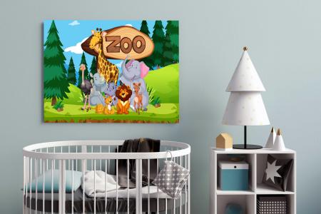 Tablou Canvas Copii - Zoo1