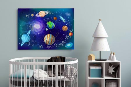 Tablou Canvas Copii - Planete1