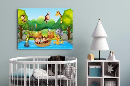 Tablou Canvas Copii - Zoo Party1