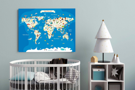 Tablou Canvas Copii - Harta Lumii2