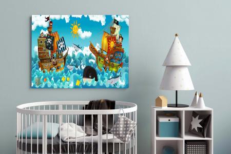 Tablou Canvas Copii - Happy On Sea [2]