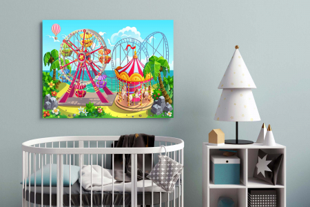 Tablou Canvas Copii - Kids World1