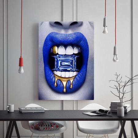 Tablou Canvas - Diamond Lips1