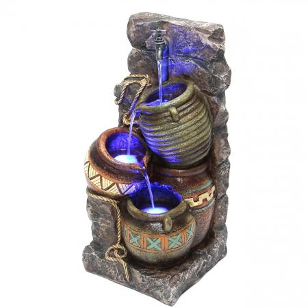 Fantana arteziana Ulcior cu lumina, decoratiune gradina, cu pompa recirculare apa [1]