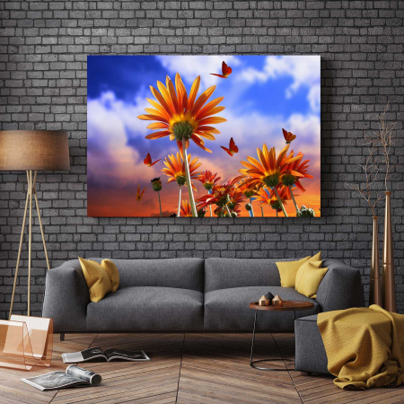 Tablou Canvas - Fluturi Si Flori2