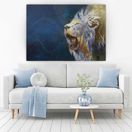 Tablou Canvas - Furious Lion1